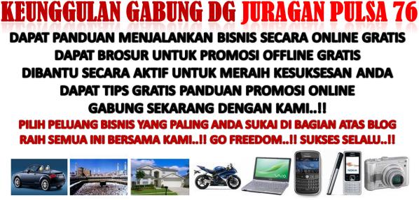 peluang bisnis mudah dan sukses bersama Juragan Pulsa 76